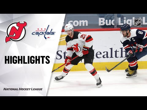 Devils @ Capitals 2/21/21 | NHL Highlights