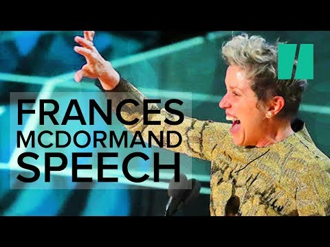 Frances McDormand Wins The Oscars With Speech