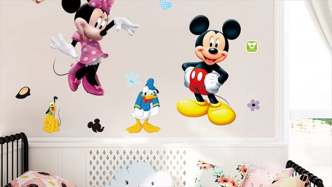 Minnie mouse wall stickers for kids rooms youtube minnie mouse wall stickers for kids rooms amipublicfo Image collections