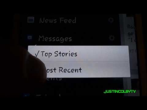 Change Facebook News Feed to Most Recent Android