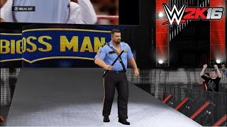 WWE 2k16 - Big Boss Man vs. Dean Ambrose: No Holds Barred | Legends DLC Gameplay