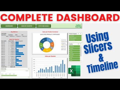 how to create an excel dashboard using slicers and timeline youtube