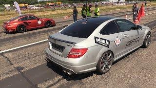 1200HP Mercedes C63 GAD Motors vs 970HP Porsche 997 Turbo