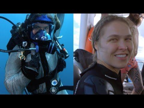 Ronda Rousey Swims With Ocean Predators for 'Shark Week'