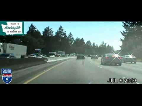 Seattle WA to Portland OR Time Lapse Drive 185 Miles