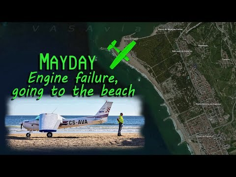 [REAL ATC] Cessna 152 CRASH LANDS ON A BEACH near Lisboa!