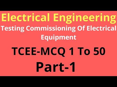 TCEE MCQ | Testing And Commissioning Of Elelctcal Equipment Mcq | Gtu Exam News |Gtu Exam News Today