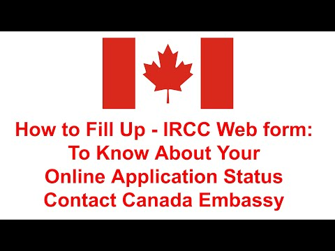 How To Fill Up IRCC WEB Form 2020