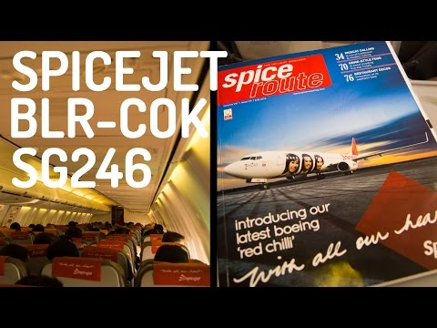 SpiceJet SG246 : Flying from Bengaluru to Kochi