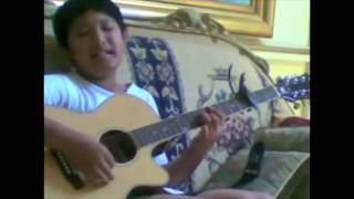 "Cover images 10-Year Old Aziz Harun Singing ""Gemuruh"""
