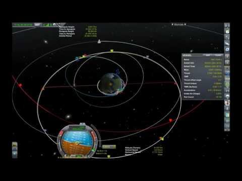 KSP 1.2 Contract Geostationary Orbit Satelite