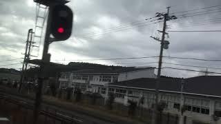 JR日豊本線  車窓  宇佐駅~杵築駅(883系0番台ソニック特急)130km/h運転!!