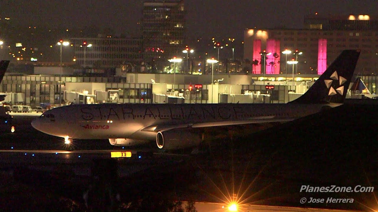 Plane Spotting At Lax Night Time Edition Youtube