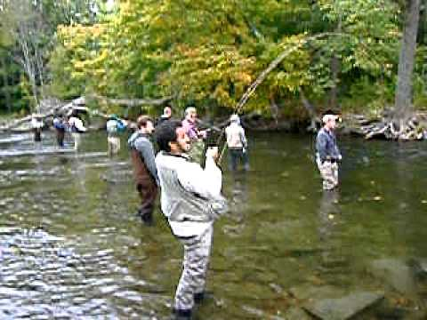 Fly rod goes snap youtube for Salmon fishing ny