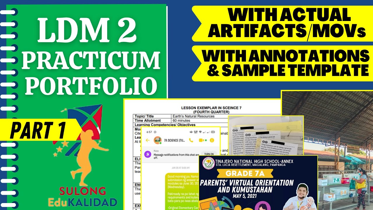 Download LDM2 PRACTICUM PORTFOLIO FOR TEACHERS WITH ARTIFACT AND ANNOTATIONS - PART 1