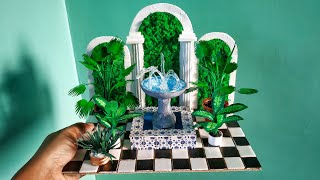 Hi Friends..... In this video I'm going to show you How to make Miniature Garden Fountain , Floor and moss wall Materials used Thermocol Plate, cardboard, ...