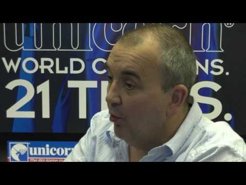 Phil Taylor speaks to Stuart Pyke