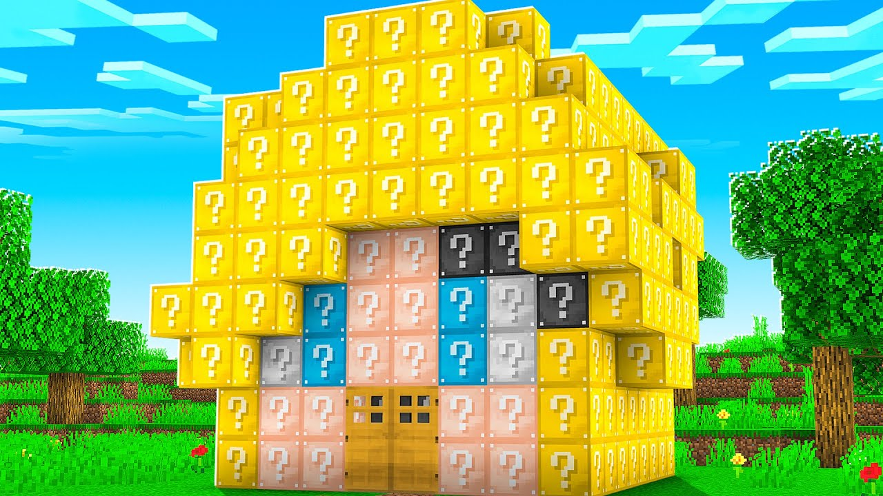 Download Lucky Block House Battle vs PrestonPlayz! - Minecraft