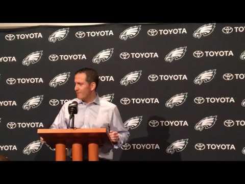 Howie Roseman discusses Philadelphia Eagles WR Josh Huff's release