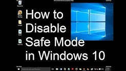 How disable Safe mode when not accepting  password || window 10 || with CMD