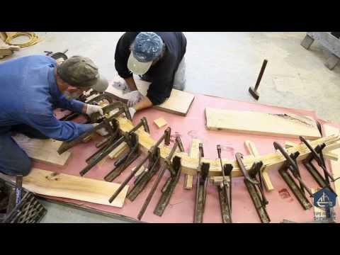 How to laminate the stem for 24' wooden v-bottom skiff boat