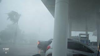 Near Hurricane Force Thunderstorm Winds - La Grange, TX