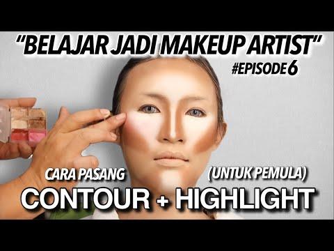 #6 CARA PAKAI CREAM CONTOUR + CREAM HIGHLIGHT MUA PEMULA⁉️   BELAJAR JADI MAKEUP ARTIST (MUA)