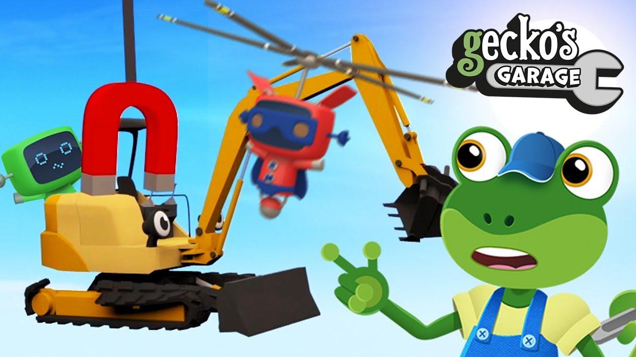 Mini Digger's Big Mission Small Excavator For Kids Gecko's Garage Educational Truck Cartoon