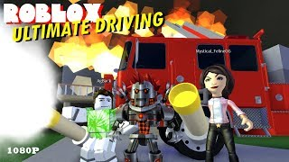 Roblox ULTIMATE DRIVING 12 - FIRE FIGHTING & GLITCHED FIRE ENGINE