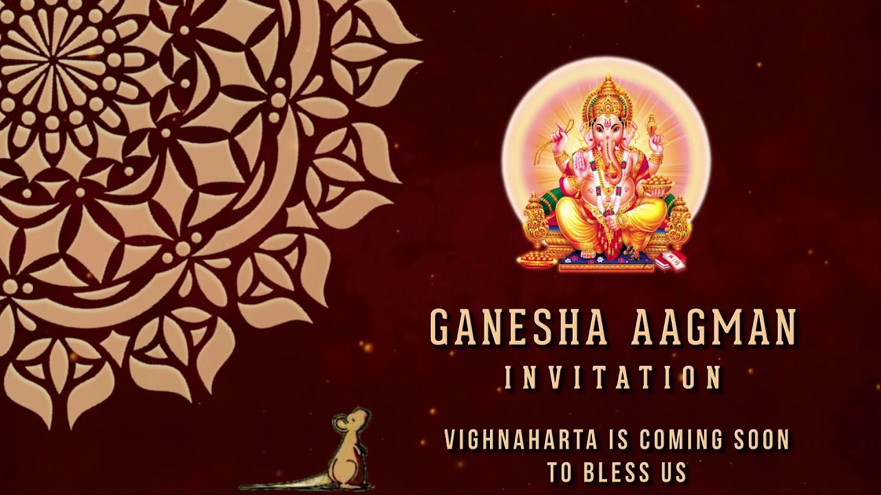 Ganesh Chaturthi Invitation Video In Rs 700 Only Eventvideocreators Com