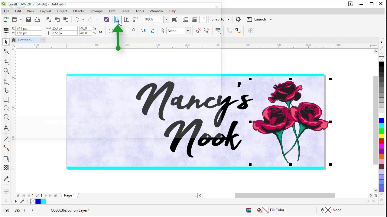 Creating A Facebook Cover Image In Coreldraw Youtube