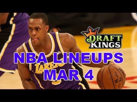 DraftKings, FanDuel, Yahoo NBA DFS Lineups - Mon 3/4 - Four Corners by Awesemo.com