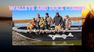 Potholes Reservoir, Wa Fall Walleye and Duck combo