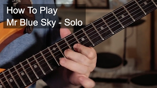 'Mr Blue Sky' by ELO Guitar Solo Lesson