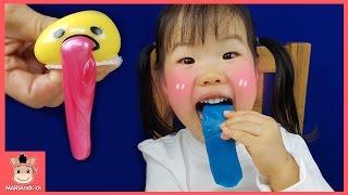 구데타마 와플 과자 먹방 액체괴물 장난감 놀이 ♡ Slime Egg Color Fun Play For Kids | 말이야와아이들 MariAndKids