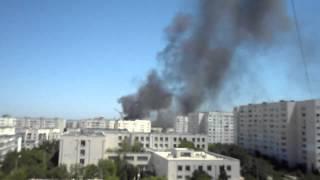 пожар на авторынке в Севастополе. 26.07.2012