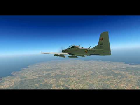 Embraer A-29 Test Flight -- Ibiza, Spain (LEIB) -- X-Plane 11.05 - 1080p HD