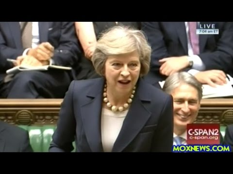 First Question Time In Parliament For New British Prime Minister Theresa May