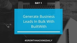 DAY 1: Generate business leads in bulk with BuiltWith   Growth Hacking Daily