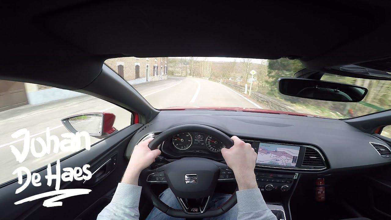 New Seat Leon FR 2017 2.0 TDI 184hp POV Test Drive GoPro