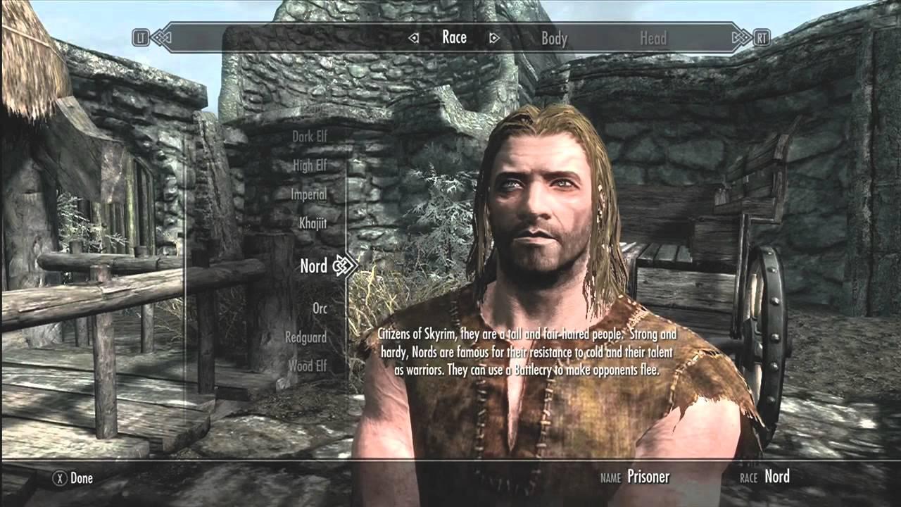 The Elder Scrolls V: Skyrim - Opening Scene & Gameplay ...