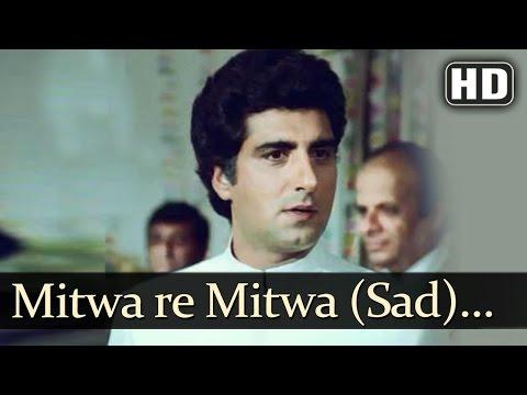 Mitwa Re Mitwa - Sad (HD)   Jawaab Songs   Raj Babbar   Smita Patil   Pankaj Udhas   Filmigaane