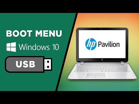 boot from usb windows 10 hp desktop