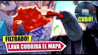 LAVA CUBRIRA TODO EL MAPA DE FORTNITE *EVENTO SOCAVÓN* FILTRADO *CUBO* | FORTNITE BATLE ROYALE