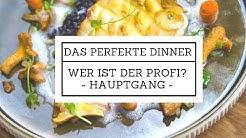 """Das perfekte Dinner""""Wer ist der Profi? Hauptgang Steinbutt auf Venere Risotto und Kartoffelschuppen"""
