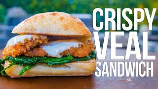 Crispy Veal Scallopini Sandwich | SAM THE COOKING GUY 4K