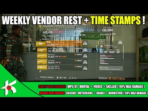 The Division | VENDOR RESET + TIME STAMP -  SEPT 30th 2017