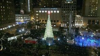 Christmas Tree Lighting Union Square San Francisco 2013