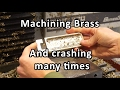 Machining a brass and aluminum phone stand - part 2, brass and tons of failure