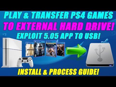 /كيفية نقل  لألعاب PS4  من  HDD الى USB (5.05/4.55/4.05 Jailbreak) APP2USB 5.05.